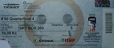TICKET Sky Box Eishockey WM 14.5.2015 Finnland - Tschechien in Prag