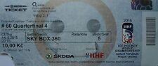 TICKET SKY BOX Hockey su ghiaccio WM 14.5.2015 Finlandia-Repubblica Ceca a Praga