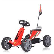 Pedal Go Kart Kids Ride On Car Outoor Children Pedal EVA Toy Cart Racing Ferrari