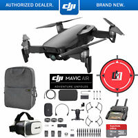 DJI Mavic Air Fly More Combo Onyx Black Drone Mobile Go Pack VR Set Landing Pad