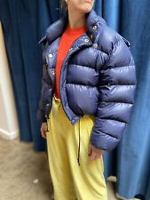 RACHEL COMEY x CRESCENT DOWN WORKS Apex Navy Down Hooded Cropped Puff Jacket M