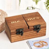 Wooden Wedding Ring Box Ring Bearer Box Engagement Ring Holder for Wedding Party