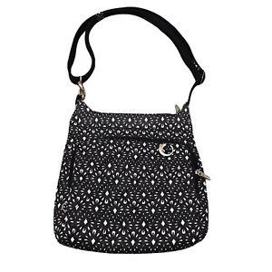 Travelon Crossbody Bag Anti-Theft Strap Black w/Pink Lining