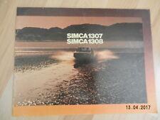 catalogue  SIMCA 1307 1308