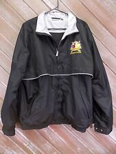 Reebok Golf Windbreaker Maple Creek Dye Charity Classic Jacket Men's Sz L Black