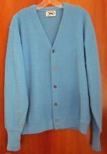 FOX blue button-down cardigan sweater 1980s preppy golf icon XL emblem JC Penny