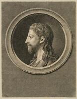 CHODOWIECKI (1726-1801). Christuskopf; Druckgraphik1
