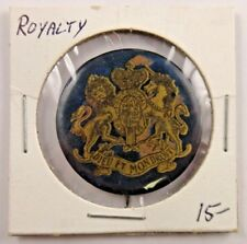British Royalty Coat of Arms Pin Pinback Button Badge St. Louis Button Co.