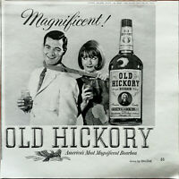 Old Hickory America's most Magnificent Bourbon Vintage Advertisement 1965