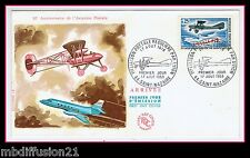 1968 - OBL.ST.NAZAIRE/FDC FRANCE//AVIATION.LIAISON POSTALE-25C//TIMBRE...Y/T1565