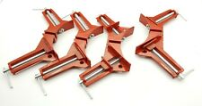 """4pcs 4"""" 100mm Mitre Corner Clamps Picture Frame Holder Woodwork Right Angle"""