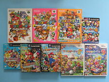 MARIO PARTY 1 2 3 4 5 6 7 8 9 JAPAN IMPORTS N64, Gamecube, Wii JP Collection Lot