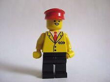 Lego RAILWAY Employee 5 Minifigure Vintage Trains Town 2126 2150 4532 4559 4565