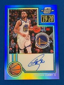 19-20 Contenders Optic STEPHEN CURRY Blue AUTO /20 * Hard Signed - MINT
