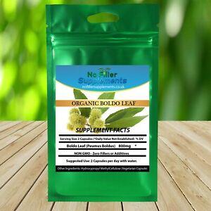 100% Pure Boldo Leaf (Peumus boldus) Vegetable Capsules