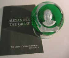 Great Leaders of History - 12 Baccarat Crystal Cameos Paperweights - 1975