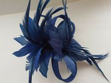 Beautiful Royal Blue feather /& looped design facinator wedding//071