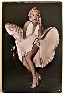 Marilyn Monroe Skirt Blowing Tin Sign (Some Like it Hot, Seven Year Itch)