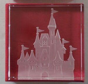 Disney Cendrillon Château Gravé Verre Presse-Papier Robert Guenther