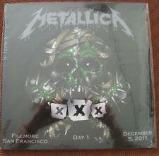 "METALLICA ""FILLMORE SAN FRANCISCO DEC 5 2011- DAY1 "" DOUBLE LP LIVE 30TH ANN GIG"