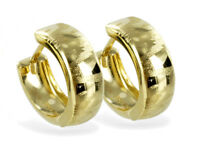 ECHT GOLD *** Kleine Creolen Ohrringe gemustert 13 mm