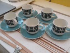 Green Staffordshire Pottery Cups & Saucers