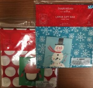 """Lot of 2 new in package Hallmark Inspirations Large Gift Bags & Tags 36x44"""""""