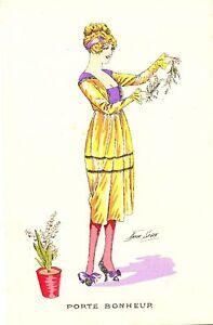 Dame mit Blumen, Blumentopf, sign. Xavier Sager, um 1920