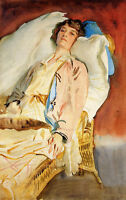 Nice oil painting Sargent - Alice Runnels James Mrs. William James canvas