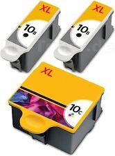 3x TINTE PATRONEN für KODAK 10 XL ESP3 ESP7 ESP 5 9 3250 5210 5220 5230 5250