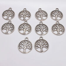 10pcs Tibetan Silver Tree of Life Charms Pagan/Celtic