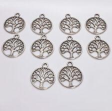 10pcs Tibetan Silver Tree of Life Charms Pagan/Celtic
