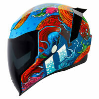 *FREE SHIPPING* Icon Airflite Inky Full Face DOT Motorcycle Helmet