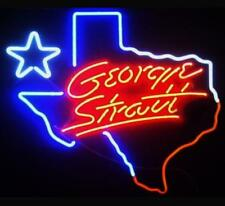 """New Texas George Strait Neon Light Sign 17""""X14"""" Man Cave Real Glass Beer Bar"""