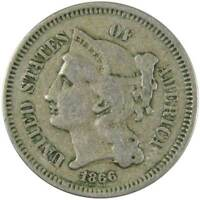 1866 Three Cent Piece VG Very Good Nickel 3c US Type Coin Collectible