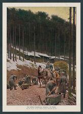 Paul Hey dt. Alpenkorps Hartmannsweiler Kopf Blockhäuser Vogesen Straßenbau 1917