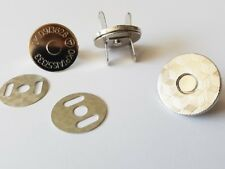 10 Magnetverschluss mit graviertem Taschenverschluss 18mm silber fein