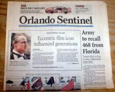 2004 newspaper Movie star MARLON BRANDO DEAD -he starred in the GODFATHER MOVIEs