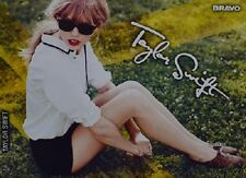 TAYLOR SWIFT - Autogrammkarte - Signed Autograph Autogramm Clippings Sammlung