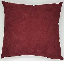 Cushion Cover Maroon Micro Suede Home Decor Handmade 45x45  New