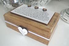Keepsake Box Mother of the Bride Personalised Wood ShabbyChic Wedding B16