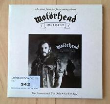 MOTORHEAD - THE BEST OF - LTD. ED. NUMBERED PROMO. CD (RARE. EX. cond.)