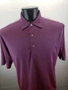 Donald Ross Polo Shirt Pink/Purple Stripes Mens Large Kemper Lakes Golf Club