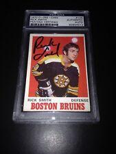 Rick Smith Signed 1970-71 O-Pee-Chee OPC Bruins Card PSA Slabbed #83854512