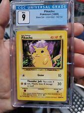 Pikachu - 58/102 - CGC 9 Mint - Unlimited - Base Set - Pokemon Card like psa