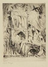 LYONEL FEININGER   The Gate (Das Tor) (P. E 52)
