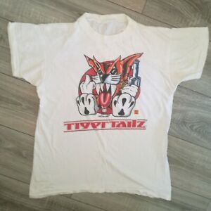 Vintage Tigertailz Welsh Glam band Young an Crazy T shirt size large