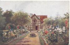 Warwickshire Postcard - Shakespeare's Birthplace Garden - Stratford -  Ref CC946