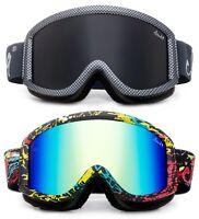 Men Women Ski Snow Goggles Anti Fog Dual Lens UV Protection Checker Design