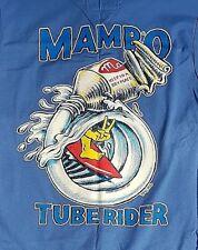 MAMBO XL MID BLUE MUSCLE LOUD T-SHIRT TUBE RIDER MATTHEW MARTIN SURF CULTURE